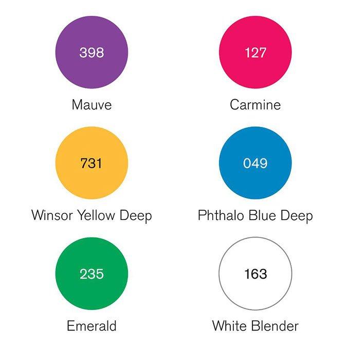 6 feutres Pigment Marker - Tons riches