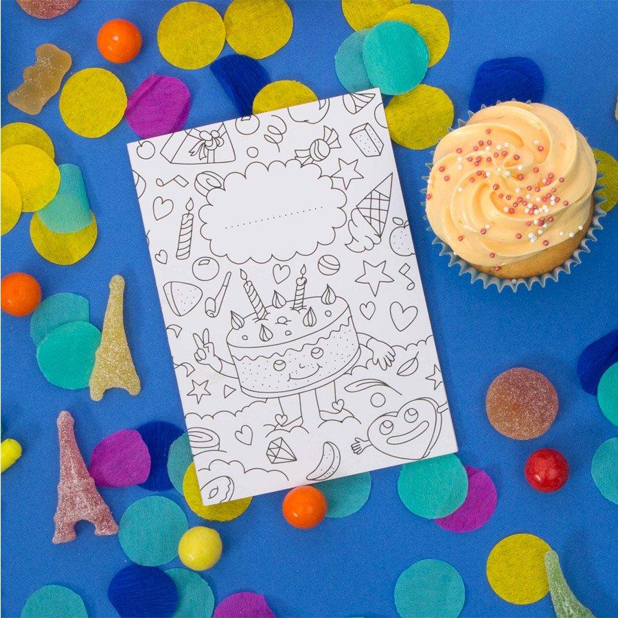 Invitations à colorier - 8 pcs