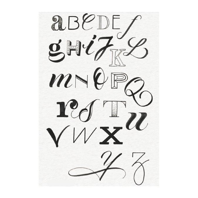 4 feutres Pitt Artist Pen Lettering noirs et rouge