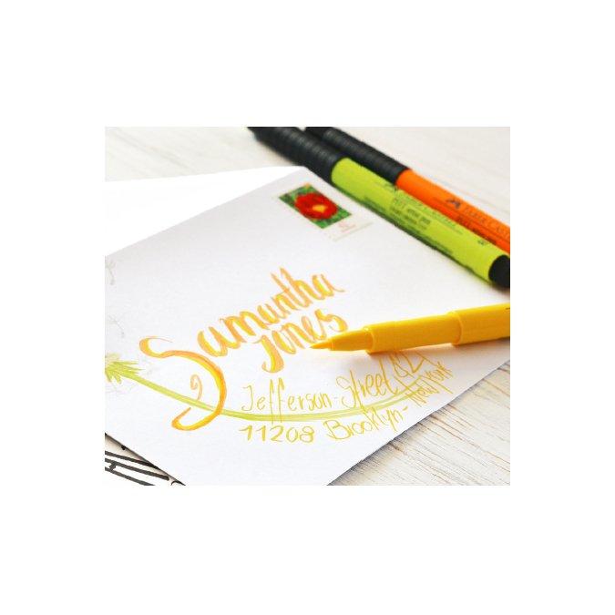 6 feutres Pitt Artist Pen Lettering verts