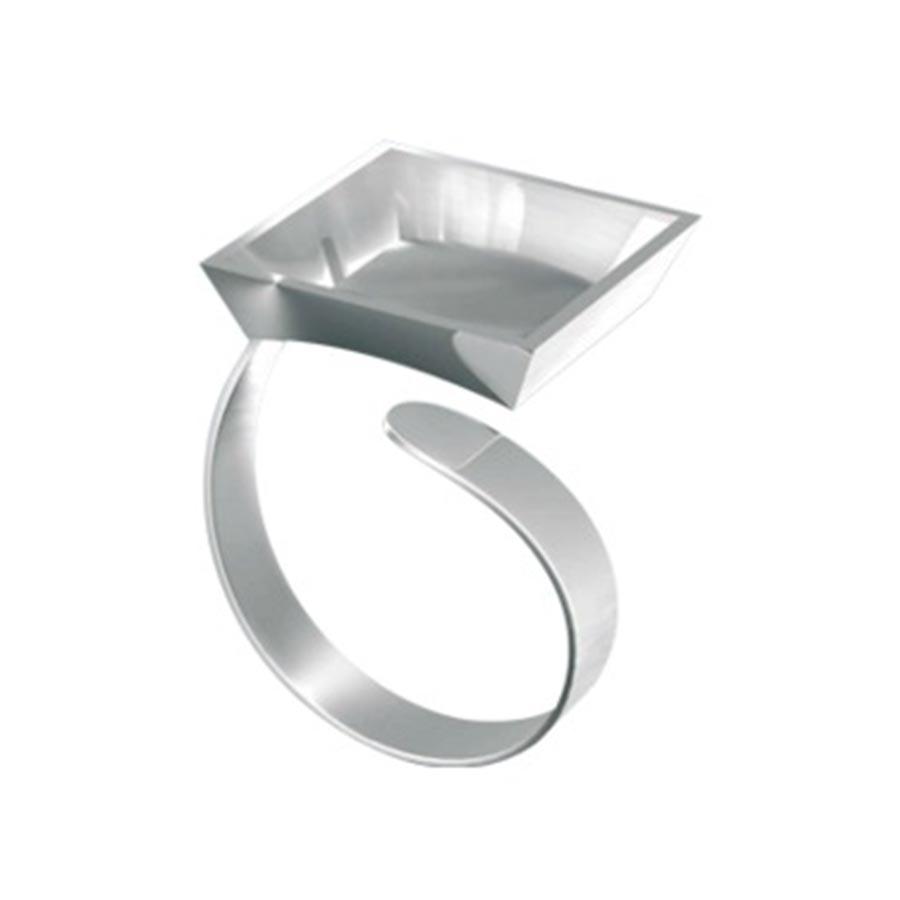 Support bague carré - 2 x 2 cm