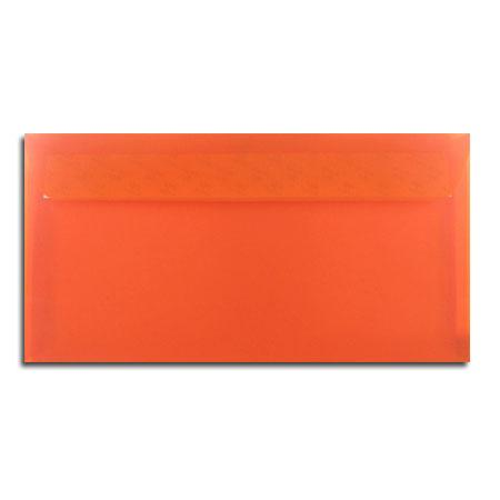 Perga pastell - 5 enveloppes 11.4 x 22.3 cm - mandarine