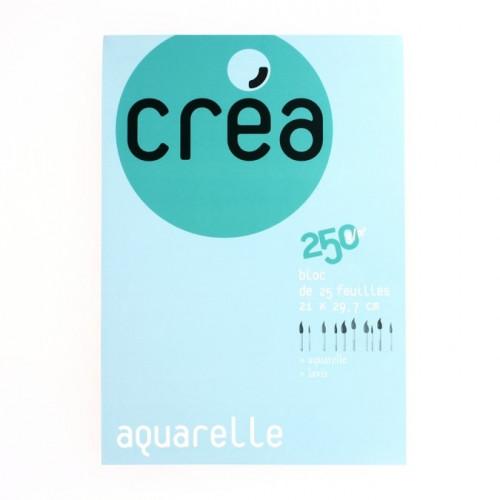 Papier aquarelle - 250 g/m² - A4 - 25 feuilles