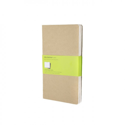 Carnets de notes - 13 x 21 cm - kraft - 3 pcs