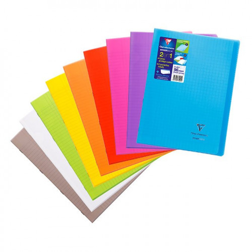 Cahier Koverbook avec protège-cahier intégré - A4 - grands carreaux - 48 p