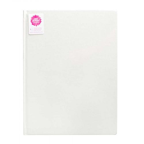 Carnet blanc papier aquarelle - 23 x 30,5 cm - 96 pages