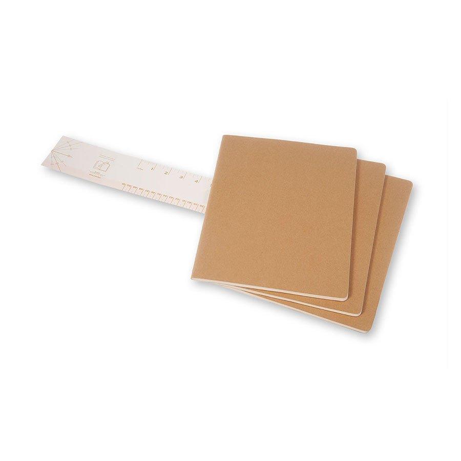 Cahier de note XXL - Couverture kraft - Pages lignées - 21,6 x 27,9 cm - 3 pcs