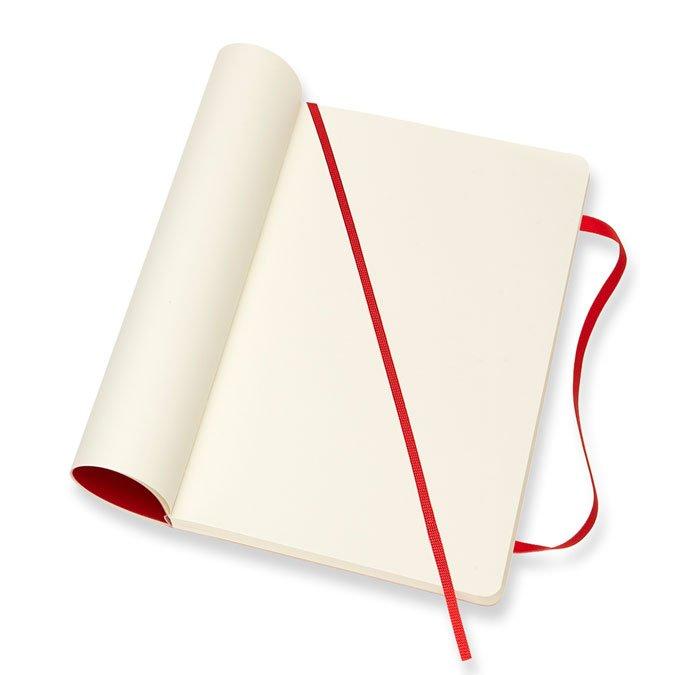 Carnet blanc souple - Scarlet - 13 x 21 cm