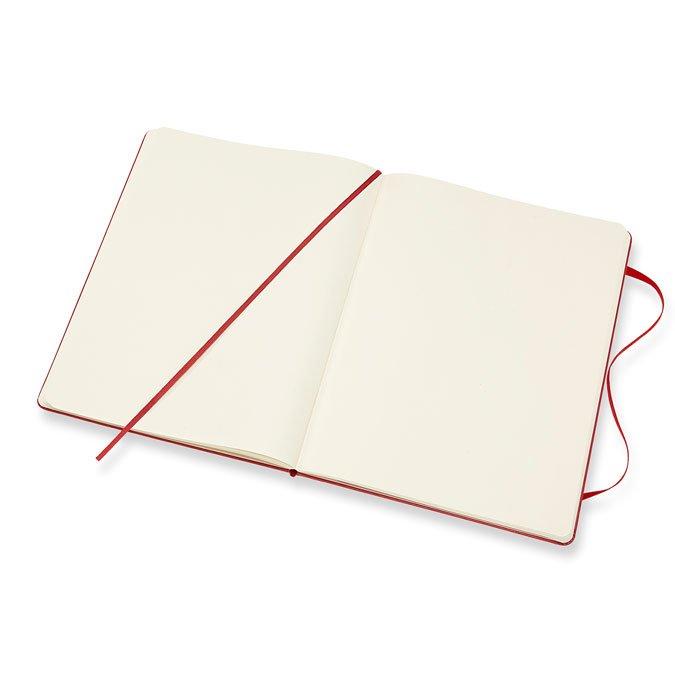 Carnet blanc rigide - Scarlet - 19 x 25 cm
