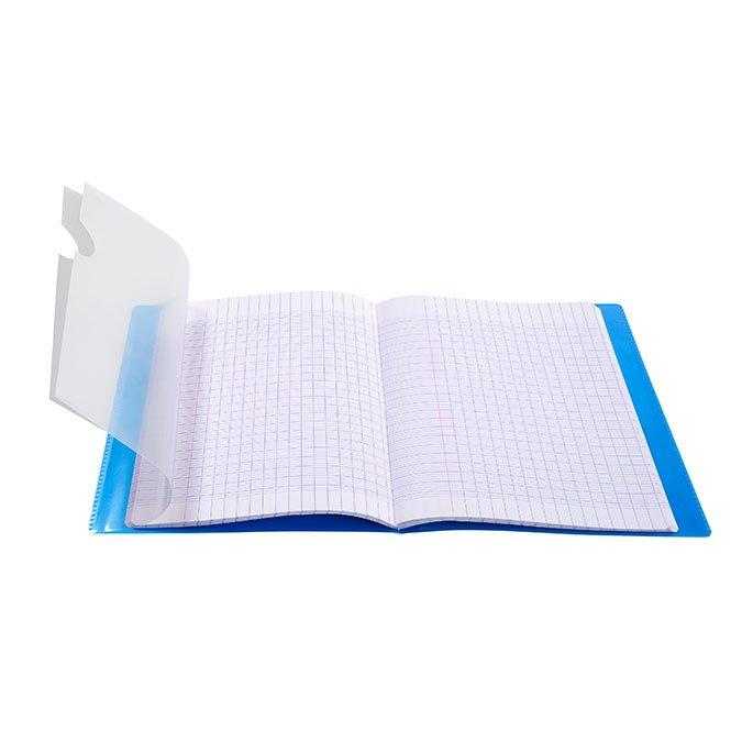 Cahier Koverbook avec protège-cahier intégré - 17 x 22 cm - grands carreaux - 48 p