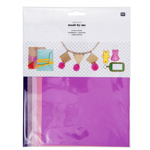 Cuir synthétique - Kit Girly - A5 - 5 pcs