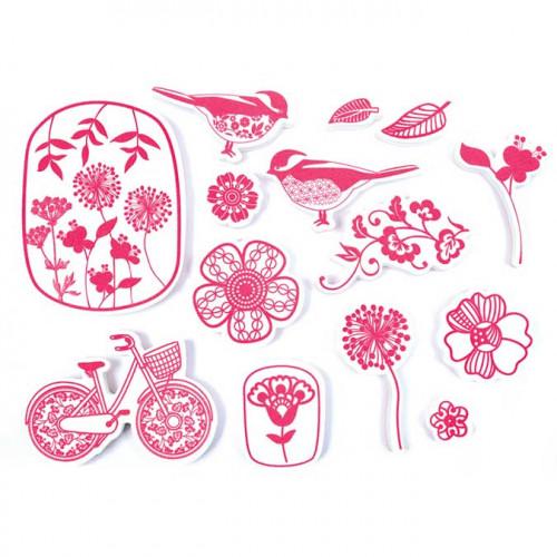 Stampo Textile - Fleurs