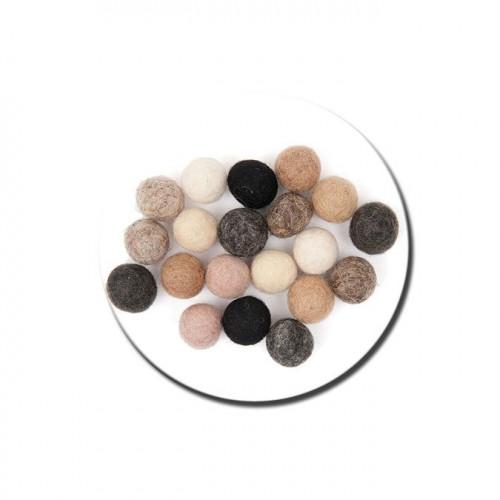 Boule en feutre - Nature - 1,5 cm