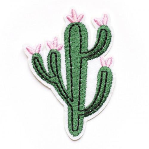 Ecusson thermocollant - Cactus à fleurs