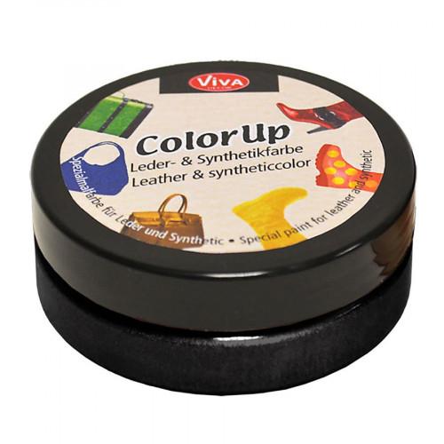 Peinture pour cuir et matières synthétiques Color Up Noir 50 ml