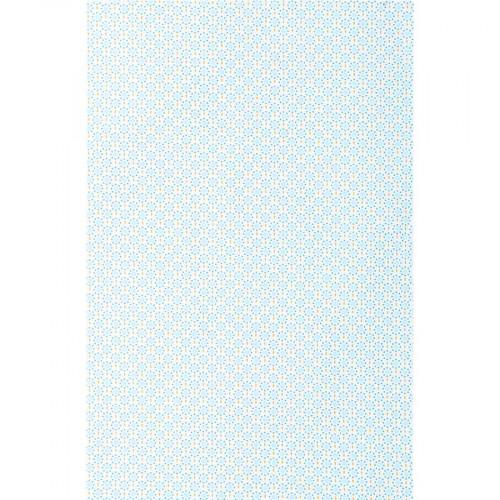 Tissu Ronds - bleu pâle - 45 x 55 cm