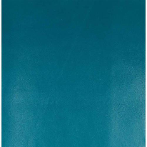 Simili cuir - bleu pétrole - 50 x 68 cm