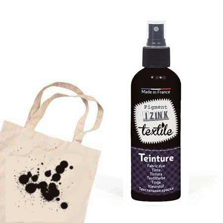 Teinture textile Izink Noir khôl - 80 ml