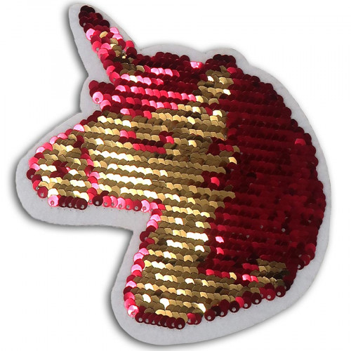 Licorne thermocollante en sequins réversibles