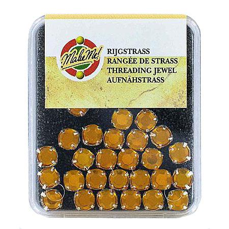 Strass serti rond-cristal topaz 1