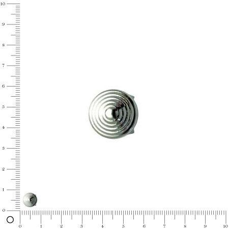 Clous à griffes L.8 mm - Spirale - Argenté