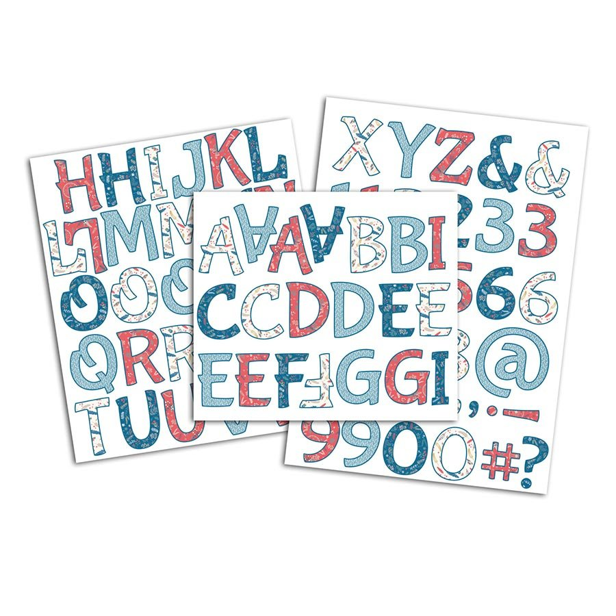 Alphabet thermocollant Hygge - 3 planches