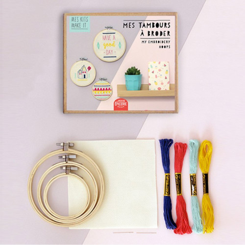 Mes Kits Make It - Tambours à broder