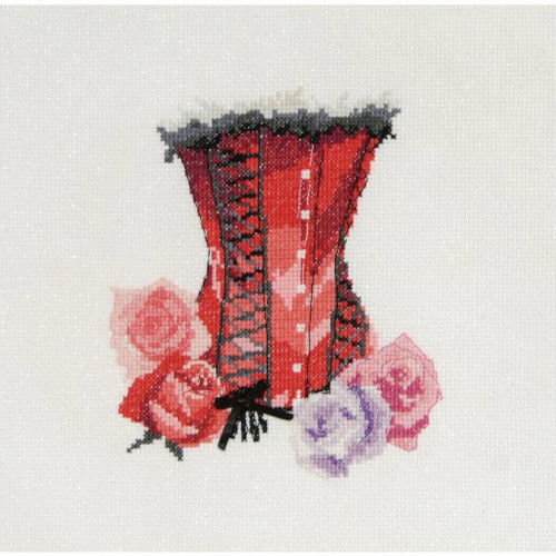 Kit Broderie - Bustier au ruban noir - 15 x 20 cm
