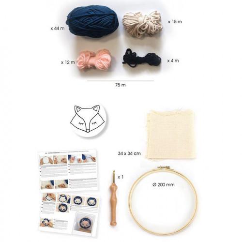 Kit Punch Needle Renard - 20 cm