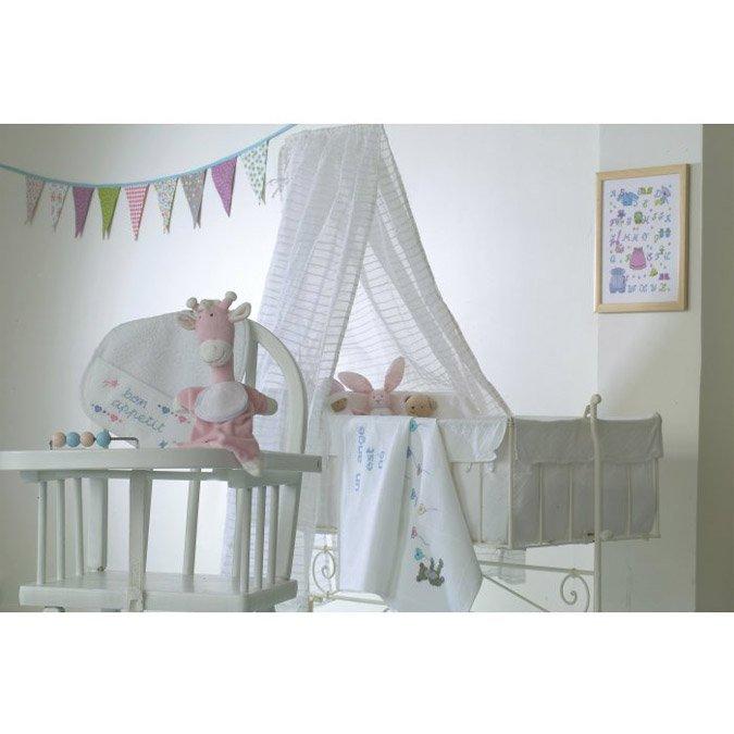 Bavoir éponge à broder - 6 mois - blanc