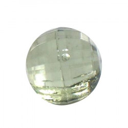 Bouton tunnel perle vert - 1 cm