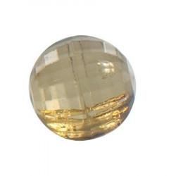 Bouton tunnel perle caramel - 1 cm