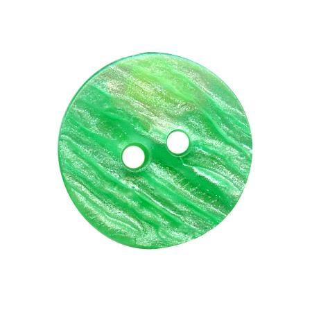 Bouton 2 trous vert clair - 1,2 cm