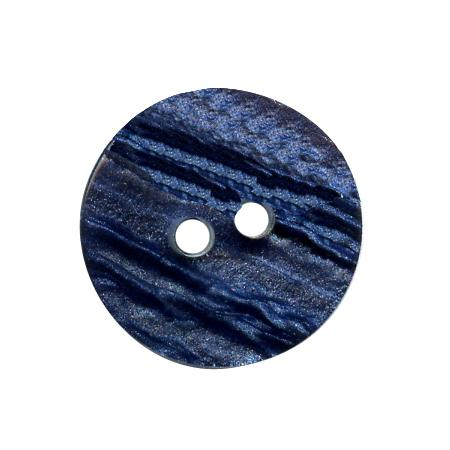 Bouton 2 trous bleu marine - 1,5 cm