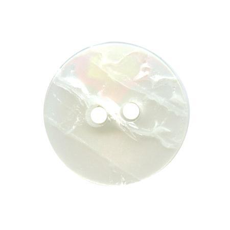 Bouton 2 trous blanc - 1,8 cm