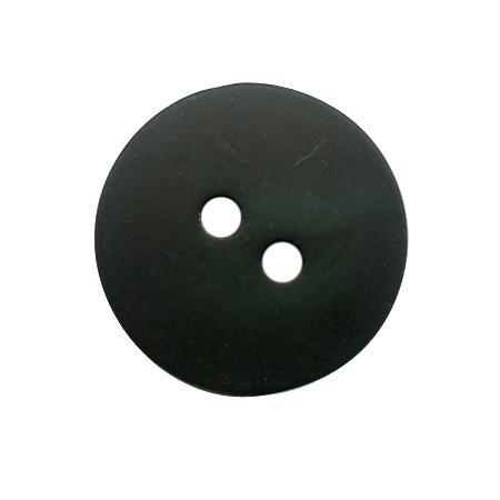 Bouton 2 trous gala satin vert olive - 1,2 cm