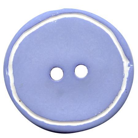 Bouton 2 trous ''galet'' bleu ciel - 1,8 cm