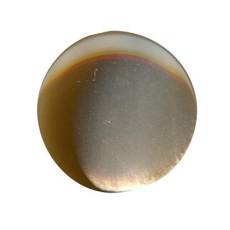 Bouton à queue ''imitation nacre'' marron - 1,1 cm