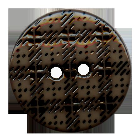 Bouton 2 trous ''écossais'' gris - 1,5 cm