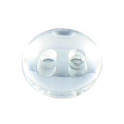 Bouton 2 trous miroir blanc - 1 cm