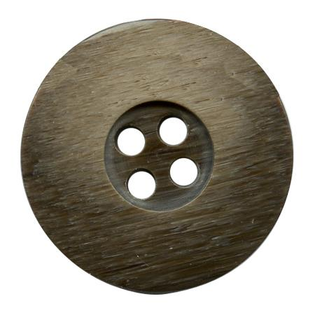 Bouton 4 trous poly ourle 18mm chocolat
