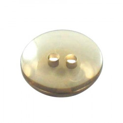Bouton 2 trous transparent marron - 1,4 cm