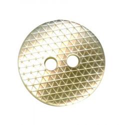 Bouton 2 trous beige - 1,4 cm