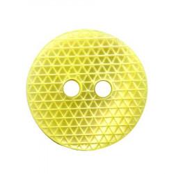 Bouton 2 trous jaune - 1,4 cm