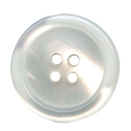 Bouton 4 trous  blanc - 2 cm