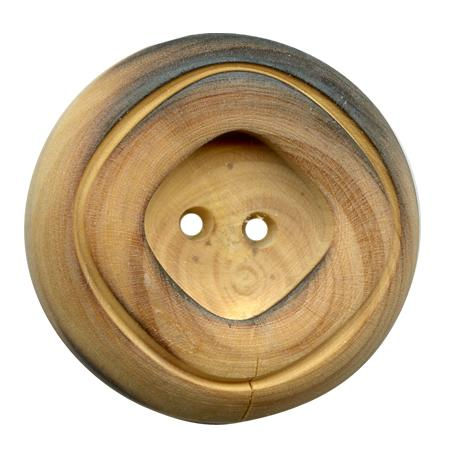 Bouton 2 trous ''buis brûlé'' - 1,8 cm