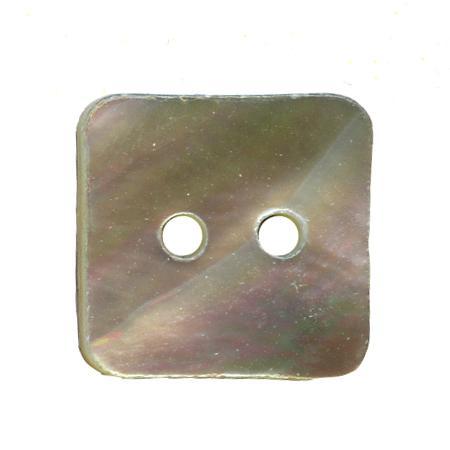 Bouton 2 trous carré  nacre bleu ciel - 2,3 cm