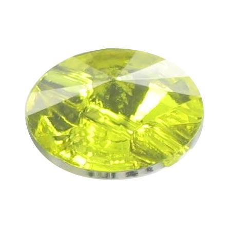 Bouton tunnel cristal jaune - 1,1 cm