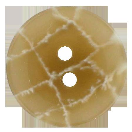 Bouton 2 trous beige - 2,2 cm