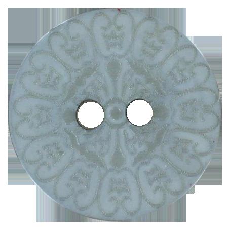 Bouton 2 trous baroque gris - 1,8 cm